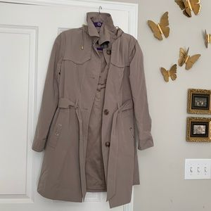 Gallery Trench Coat with hood and belt